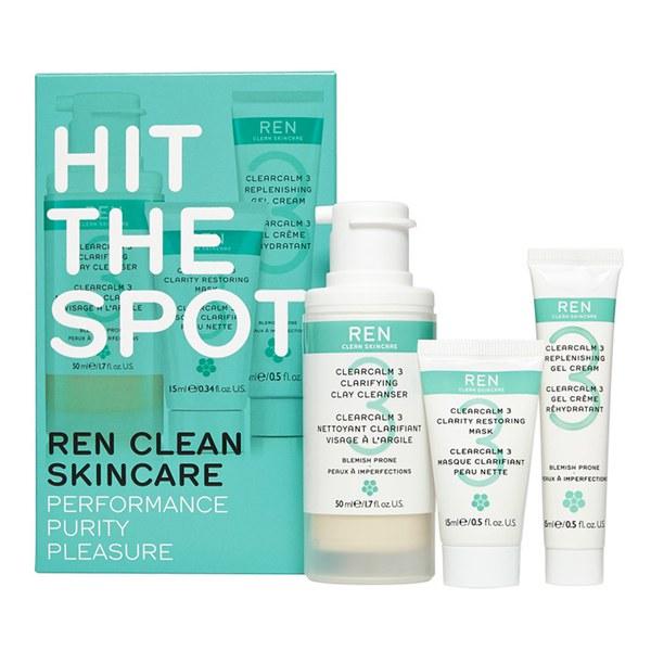 REN Hit the Spot Regime coffret pour peau encline à l'acné