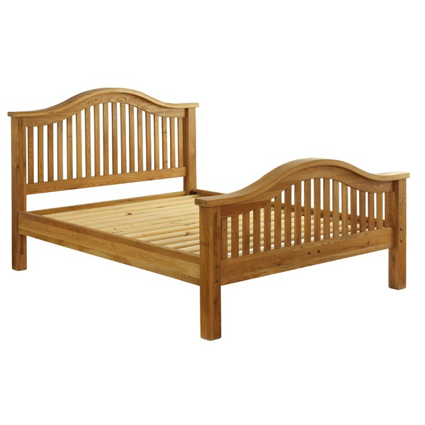 Vancouver oak vxb005 bed frame double high end iwoot for Beds vancouver