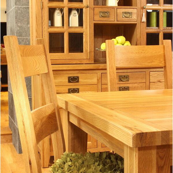 Vancouver oak vxd010 fixed top dining table small iwoot for Furniture vancouver wa