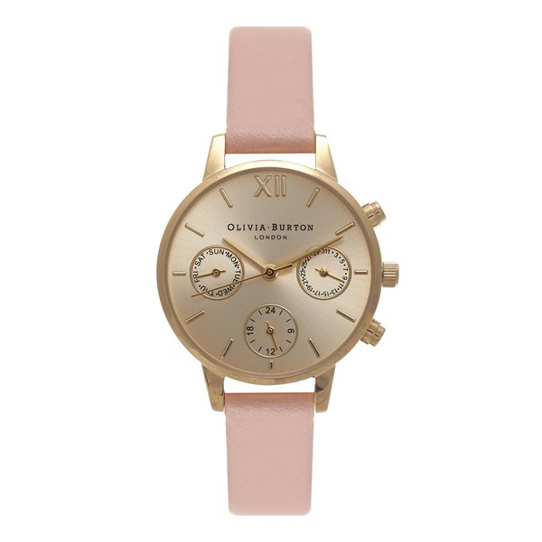 Olivia Burton Women's Midi Chrono Detail Watch - Dusty Pink/Gold