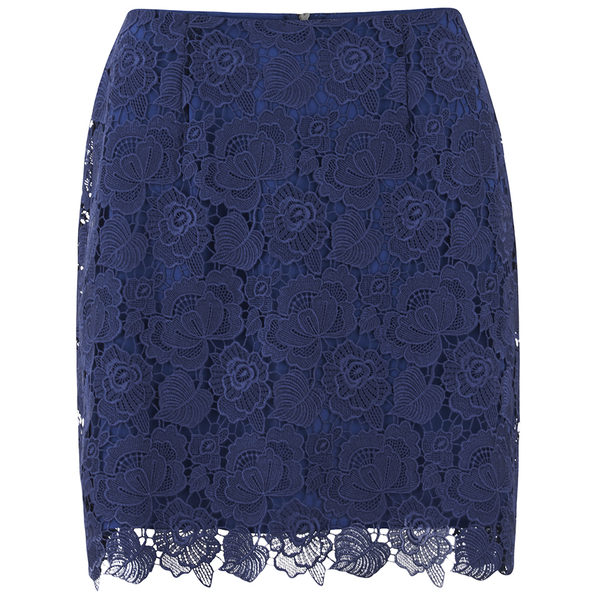 Sportmax Code Women's Corea Mini Skirt - Navy