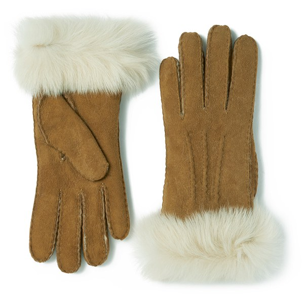 UGG Women's Classic Collection Toscana Long Cuff Gloves - Chestnut