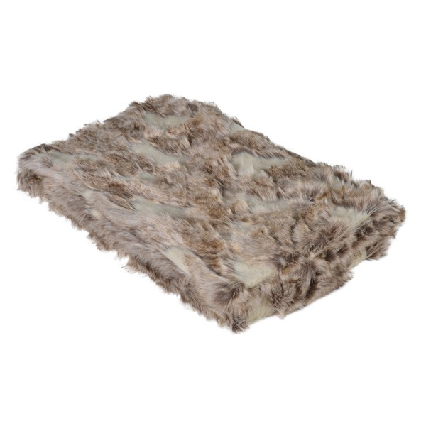 Bark & Blossom Textured Faux Fur Throw