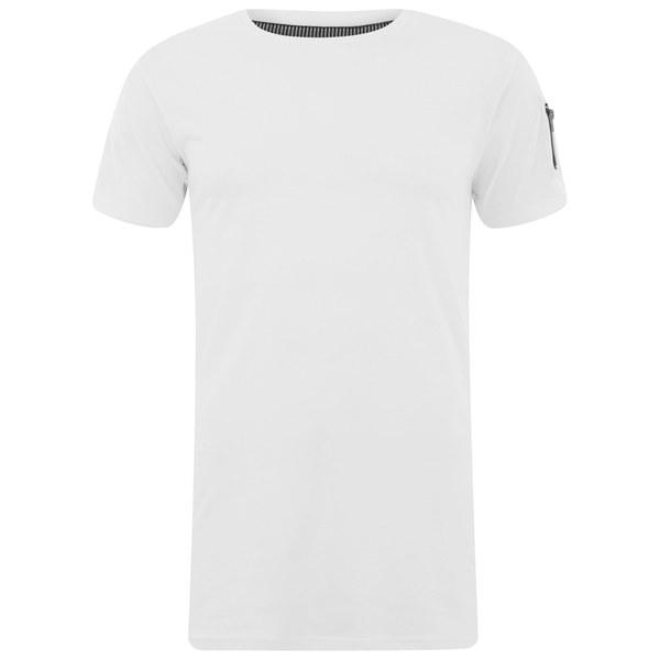 Eclipse Men's Gilson Zip Sleeve Longline T-Shirt - White
