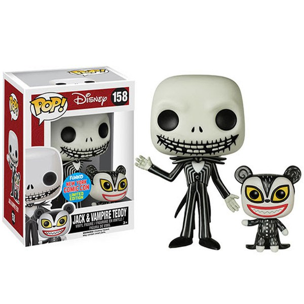 NYCC Disney Nightmare Before Christmas Jack Skellington and Teddy Exclusive Pop! Vinyl Figure