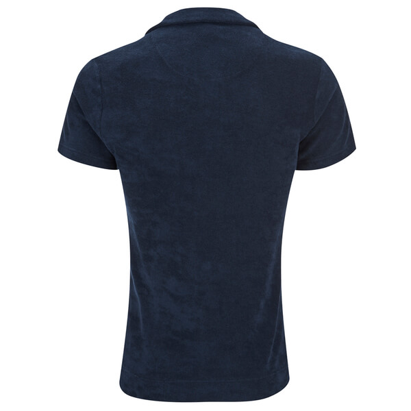 Orlebar Brown Men 39 S Terry Towelling Polo Shirt Navy