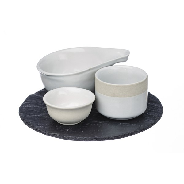 Just Slate Stoneware Tapas Set