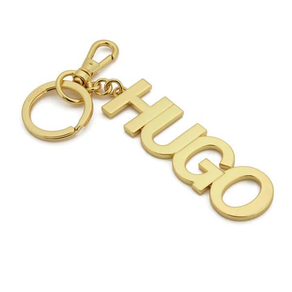 HUGO Vienne Logo Keyring - Gold
