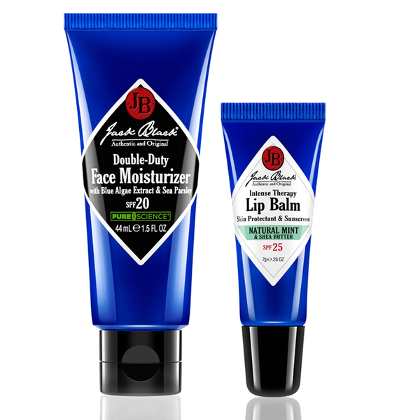 Jack Black Lip Balm Mint and D. Duty Moisturizer 44ml