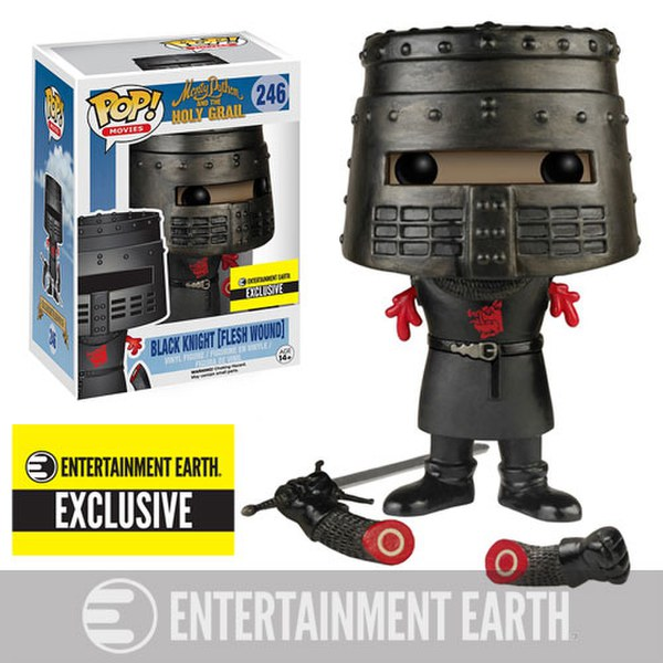 Monty Python And The Holy Grail Flesh Wound Black Knight Entertainment Earth Exclsuive Pop! Vinyl Figure