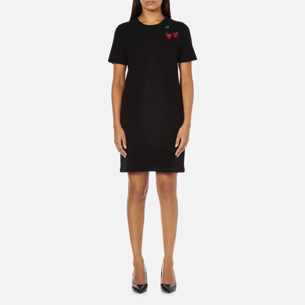 Marc by Marc Jacobs Women's Embroidered Fruits Sweatshirt Dress - Black