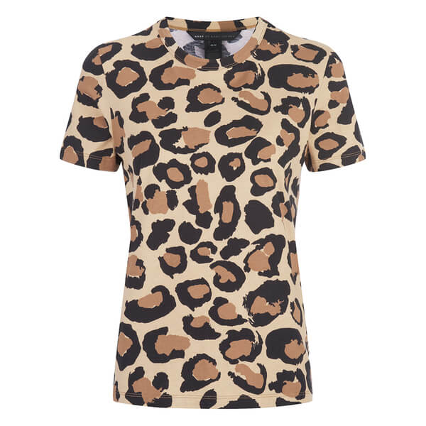 Marc by Marc Jacobs Women's Big Painted T-Shirt - Leopard