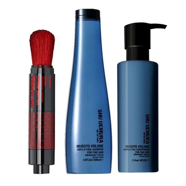 Shu Uemura Art of Hair Muroto coffret volumisant - shampooing (300ml), après-shampooing (200ml) et poudre volumisante (2g)