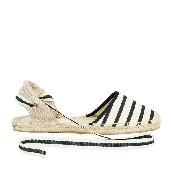 Soludos Women's Classic Espadrille Sandals - Natural/Black