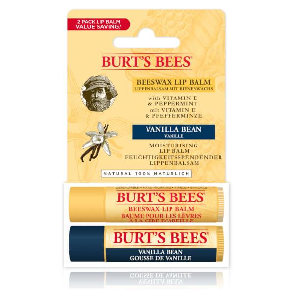 버츠비 비즈왁스 & 바닐라 빈 립 듀오 팩 (BURT'S BEES BEESWAX & VANILLA BEAN LIP DUO PACK)