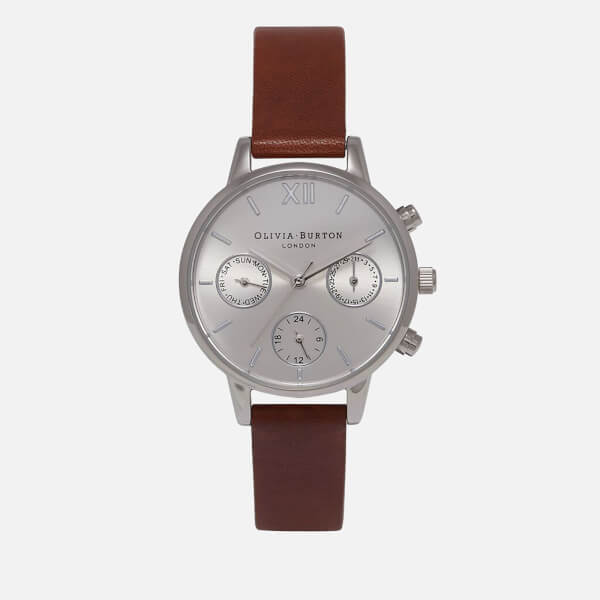 Olivia Burton Women's Midi Dial Chrono Watch - Tan/Silver