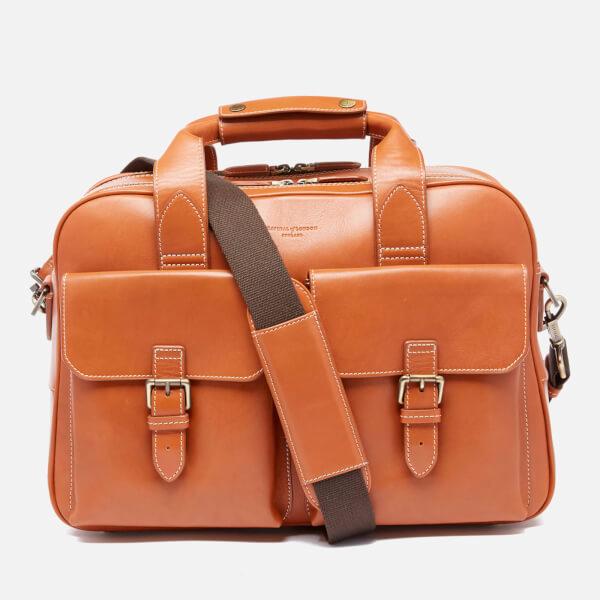 Aspinal of London Men's Harrison Overnight Business Bag - Tan