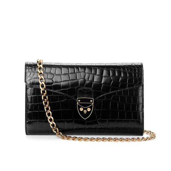 Aspinal of London Women's Manhattan Clutch Bag - Black