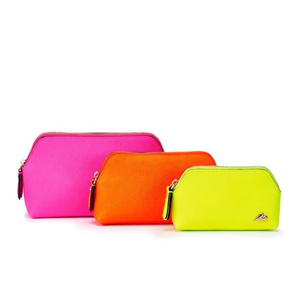 Diane von Furstenberg Women's Love Triplet Set Cosmetic Bag - Pink/Yellow/Orange