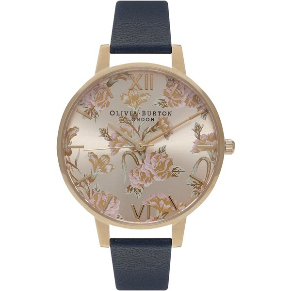 Olivia Burton Women's Parlour Watch - Parlour Navy/Gold
