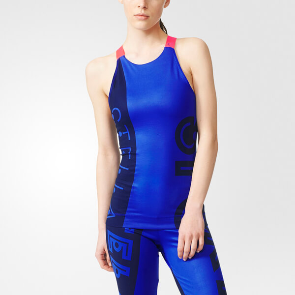 adidas Women's Stella Sport Gym Tank Top - Blue: Image 2