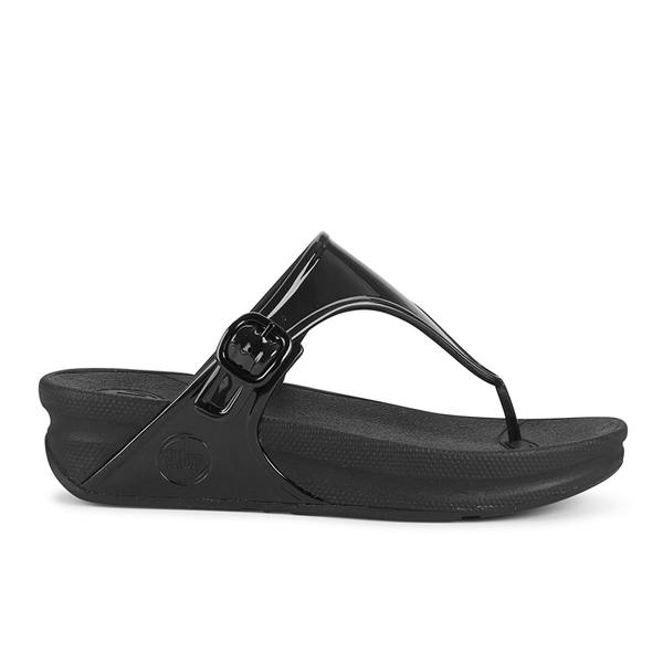 51db1c76c FitFlop Women s Superjelly Toe Post Sandals - All Black  Image 1