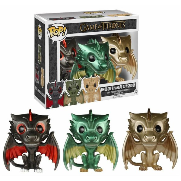Game of Thrones Limited Edition Metallic Dragon Pop! 3-Pack