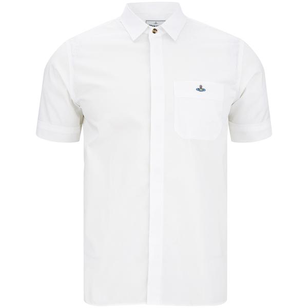 Vivienne Westwood MAN Men's Tartan Krall Short Sleeve Shirt - White