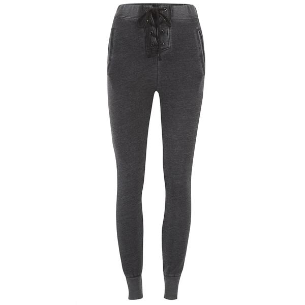 Wildfox Women's Football Sweats Sweatpants - Dirty Black