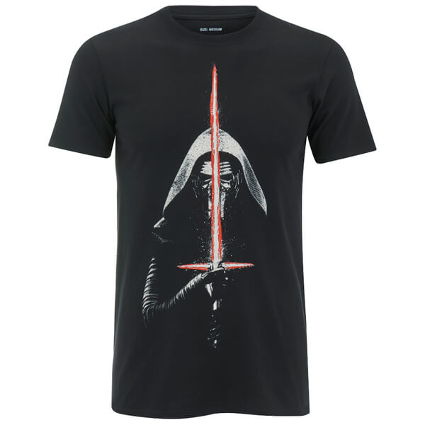 Star Wars Men's Kylo Ren Lightsaber T-Shirt - Black