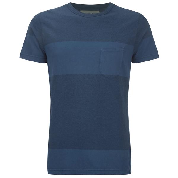 Universal Works Men's Stripe Pocket T-Shirt - Blue