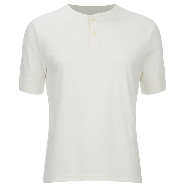 Universal Works Men's Single Jersey Short Sleeve Eton T-Shirt - Ecru