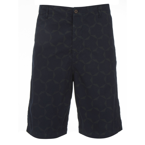 Universal Works Men's Loose Tile Poplin Shorts - Navy