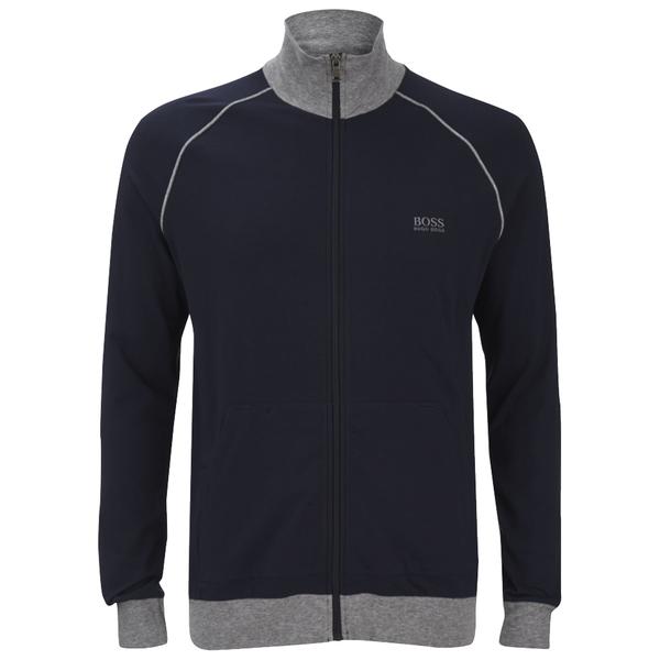 boss hugo boss men 39 s zipped sweatshirt navy mens. Black Bedroom Furniture Sets. Home Design Ideas