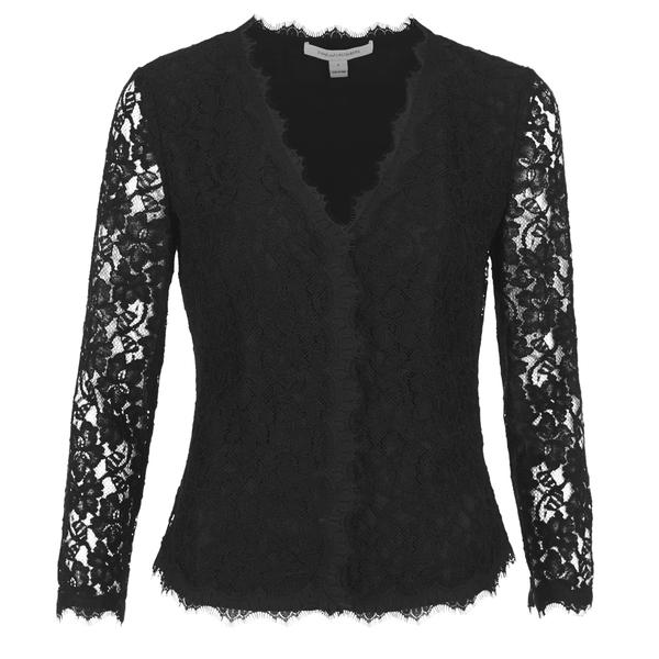 Diane von Furstenberg Women's Bria Lace Cardigan - Black - Free UK ...