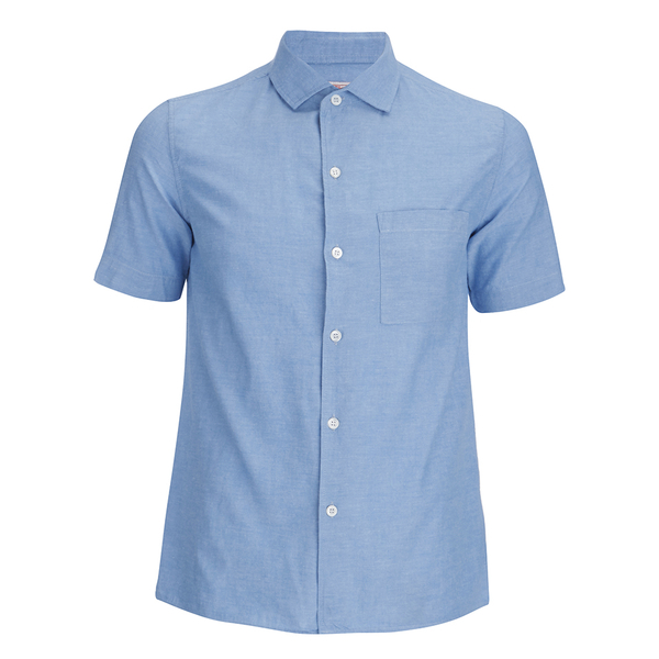 Arpenteur Men's Pyjama Short Sleeve Shirt - Blue Pique