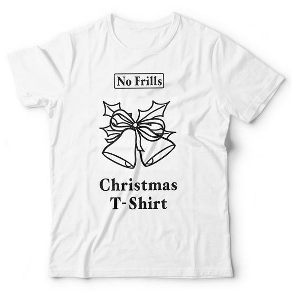 No Frills Christmas T-Shirt - White