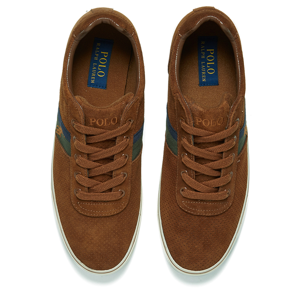 6e3b0dd3092 Polo Ralph Lauren Men s Hanford II Perforated Suede Trainers - New Snuff   Image 2