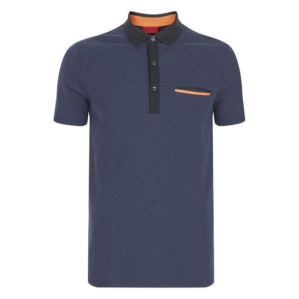 HUGO Men's Dexas Contrast Polo Shirt - Navy