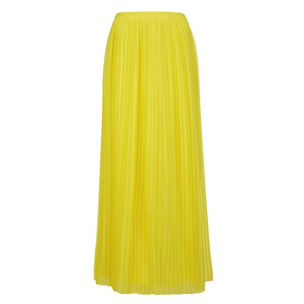 BOSS Orange Women's Beflowy Pleated Maxi Skirt - Yellow