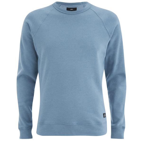 OBEY Clothing Men's Lofty Creature Comforts Crew Sweatshirt - Heather Faded Indigo