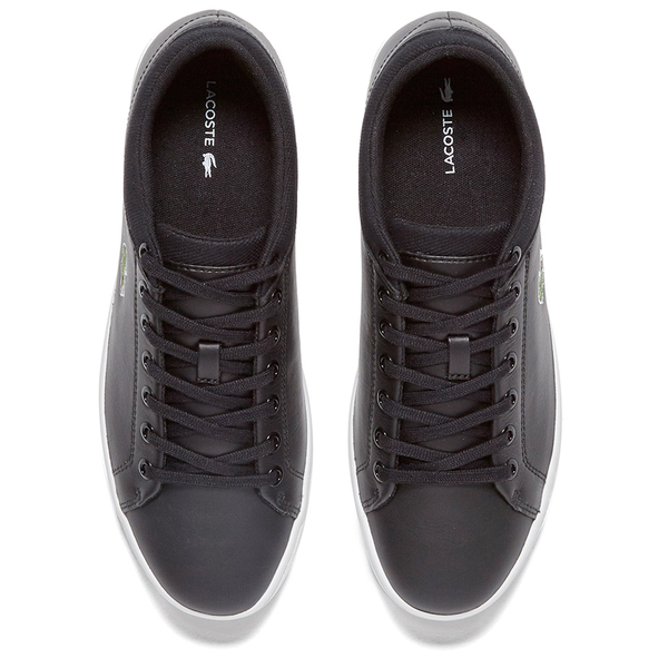 545f939186b21 Lacoste Men s Straightset SPT 116 1 Leather Trainers - Black - Free ...