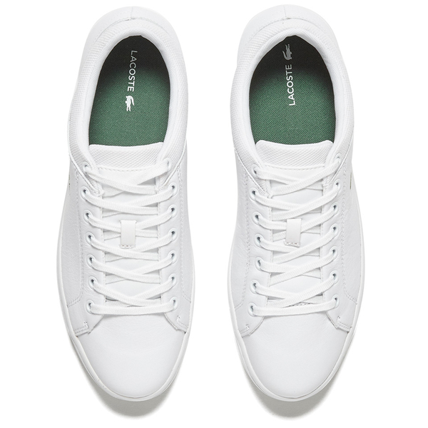 b5e90b3c8 Lacoste Men s Straightset SPT 116 1 Leather Trainers - White  Image 2