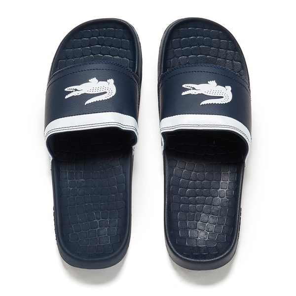 e00cb7250f84d Lacoste Men s Frasier Slide Sandals - Blue White  Image 1