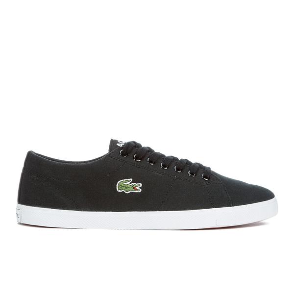 2ddc5f22a37dce Lacoste Men s Marcel LCR2 Canvas Trainers - Black Mens Footwear ...