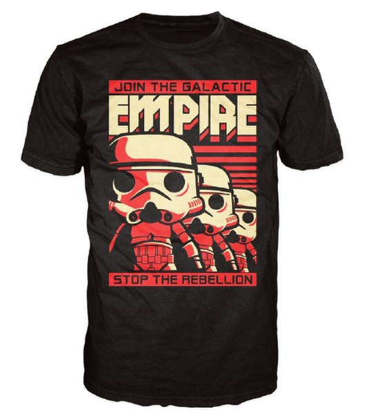 Star Wars Stormtrooper Poster Pop! T-Shirt - Black