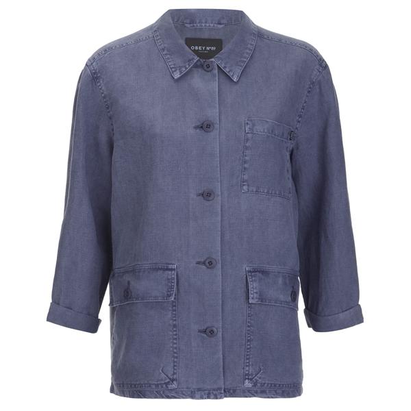 OBEY Clothing Women's Antwerp Jacket - Blue