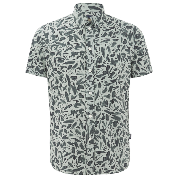 Paul Smith Jeans Men's Classic Fit Short Sleeve Shirt - Green