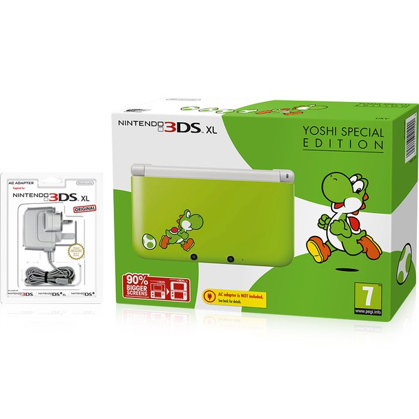 nintendo 3ds xl yoshi special edition nintendo uk store. Black Bedroom Furniture Sets. Home Design Ideas