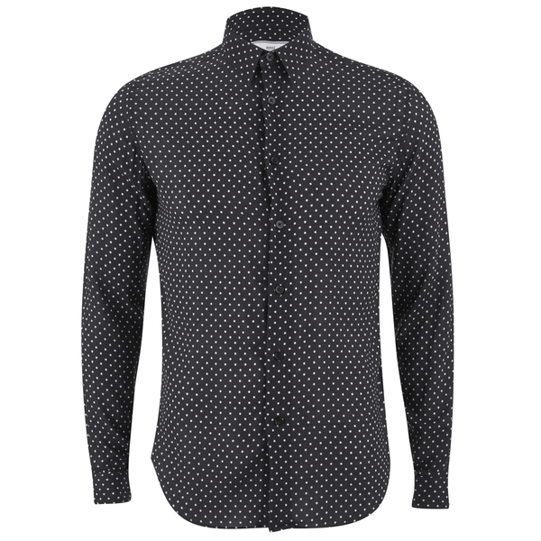 AMI Men's Classic Shirt - Black/ White